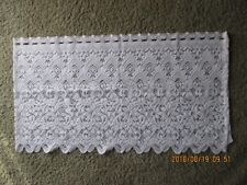 Vintage Collectibles Linens & Textiles One Panel White Lace Valance Curtain New