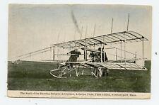 Pc Herring-Burgess Airplane Plum Island Newburyport Massachusetts 1910 Biplane
