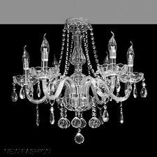 Marie Thérèse Clair Lustre en verre à 6 lumières Gouttelettes Cristal