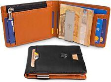 TRAVANDO  Wallet Mens with Money Clip LONDON RFID Blocking Slim Wallet  Cred
