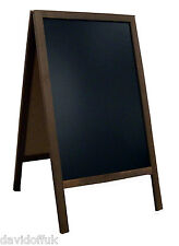 WOODEN A BOARD CHALKBOARD PAVEMENT SIGN VALUE TOP SELLER EXPRESS DELIVERY
