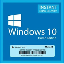 Genuine Window 10 Home Lifetime License Product Code 32/64 Bit(Instant Delivery)