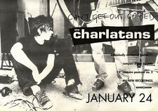 22/1/94PGN10 THE CHARLATANS : CAN'T GET OUT OF BED SINGLE ADVERT 7X11""