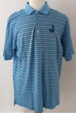 Peter Millar Polo Golf Shirt Blue Color Size XL Striped PineHurst 1895