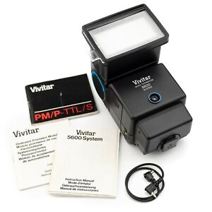 VIVITAR 5600 LCD TTL/AUTO/MANUAL SWIVEL+BOUNCE+ZOOM FLASH **GN: 47m**… PENTAX