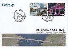 FAROE ISLANDS 2018 EUROPA BRIDGES.FDC