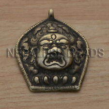 PDS275 Nepalese handmade Brass Bhairava Pendant Nepal India Hindu Deity Talisman
