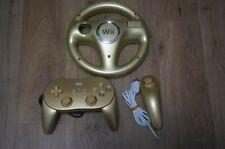 Club Nintendo Wii Golden Nunchuk Nunchuck  Handle classic  Gold Controller Pro