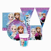 Kit Partido Disney Frozen Para 24 Personas Vasos Platos Paño Servilletas 1392
