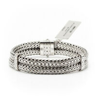 John Hardy Classic Chain 14mm Double Row Sterling Silver Bracelet - BM90147XM