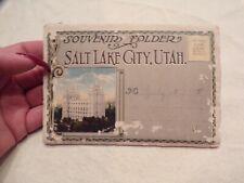 Vtg Salt Lake City Utah Souvenir Folder