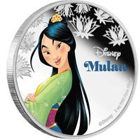 2016 Disney Princess -Mulan 1 oz Silver coin