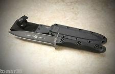 KA-BAR JOHN EK COMMANDO DOUBLE EDGE FIGHTING KNIFE EK44 MODEL 4 w/ CELCON SHEATH