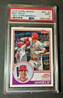 2018 Topps Update MLB Baseball 1983 Mike Trout PSA 9 MINT Angels