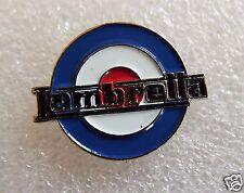 Lambretta MOD blue, red & white Roundel motorcycle enamel pin lapel badge mods