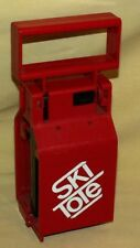 Ski Tote Red Plastic Used As Is Made In Usa Skiing Skis Easy To Carry Travel.
