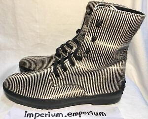 Women's Tod's Black And White Zebra Stripe Boots Shoes Size UK 4.5 Made In ITALY