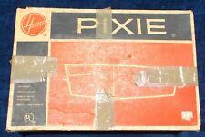 HOOVER PIXIE VACUUM VINTAGE PORTABLE MID CENTURY ORIGINAL BOX LIGHTWEIGHT USED