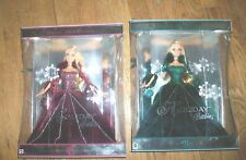 Lot of 2 Holiday Barbie 2004 BURGANDY DRESS & Holiday Green  2004