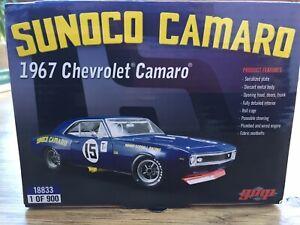 GMP 18833 CHEVROLET Camaro Sunoco Penske Racing model car M Donohue 1967 1:18th