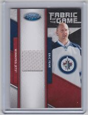 11-12 2011-12 CERTIFIED ERIC FEHR FABRIC OF THE GAME JERSEY /399 149 BLUE JACKET
