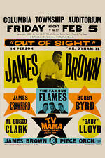 Soul: James Brown at South Carolina Concert Poster 1965 12x18