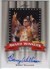 "2011 POP CENTURY AWARD WINNER AUTO: BARRY WILLIAMS #4/10 AUTOGRAPH ""BRADY BUNCH"""