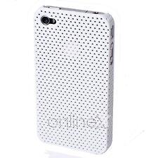 Carcasa iPHONE  4S MODELO PERFORADA RÍGIDA Color Blanco a570