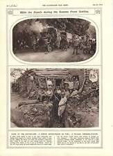 1916 Somme Front Battles French Troops Dressing-station Motor-wagon On Fire
