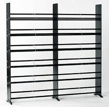 TransDeco Black/Chrome Glass CD DVD Rack /Stand 792 CD 552 DVD storage Rack -NEW
