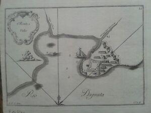 Montevideo 1748. Uruguay map plano