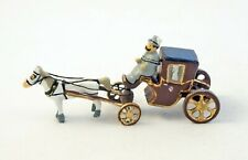 J CARLTON BY GAULT FRENCH MINIATURE 3 PIECE SET MAN RIDING CARRIAGE WITH HORSE