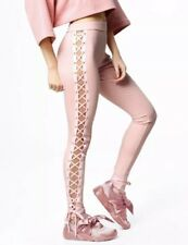NWT FENTY PUMA Sz L BOXING BOMBER LACING TIGHT LEGGING LACE UP PANTS PINK $140