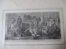 Lithographie Wärme Bäder in Seddo um 1867