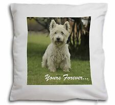 Westie 'Yours Forever'  Soft Velvet Feel Cushion Cover With Inner P, AD-W10y-CPW