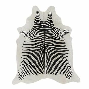 Superior Quality Gorgeous Rodeo Africa Zebra Print Cowhide Rug 5x7 FT