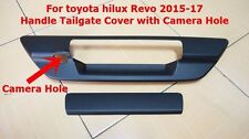 TOYOTA HILUX REVO 2015-17 MATTE BLACK TAILGATE HANDLE COVER WITH CAMERA HOLE