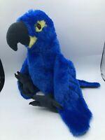Wild Republic 2017 Hyacinth Macaw Parrot Blue Bird Plush Soft Stuffed Toy Animal
