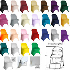 Ycc Linens - 6 Pack Stretch Spandex Folding Chair Covers for weddings & parties