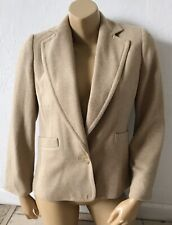 BANANA REPUBLIC Womens Size 8 Tan Beige Single Button Blazer Jacket Wool Blend