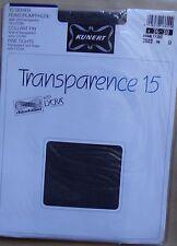 ) vintage, collant neuf KUNERT TRANSPARENCE 15 chinchillan lycra gris 36-38