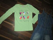 Jumpsuit Jeans Hose Dopo Dopo Girls Gr.116 Pullover S.Oliver Grün 116/122