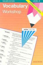 Vocabulary Workshop: Enhanced Edition Level E by Jerome Shostak