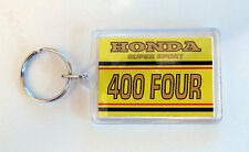 Color emparejado Honda CB400F 400 cuatro 400/4 amarillo canario Candy Antares Llaveros