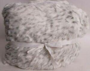 "Pottery Barn Teen Leopard Beanbag Slipcover ONLY Large 41"" Diam Gray #9879"