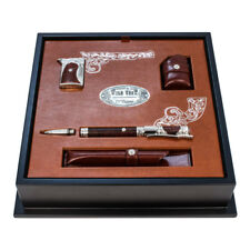 ST Dupont Ligne 2 Conquest of the Wild West Heather Wood Fountain Pen & Lighter