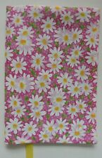 Fabric Paperback Book Cover Standard Size White Daisy's on Pink Floral print