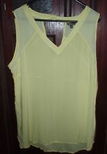 KATIES YELLOW VISCOSE POLYESTER SLEEVELESS TOP PLUS SIZE 18