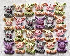 12 Pâques Lapins velours rembourré! tissu effet fourrure motifs carte, artisanat scrapbook