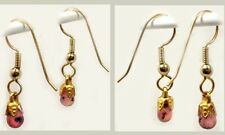19th Century Antique Gemstones 2ct Sapphire Briolette Earrings Dangles